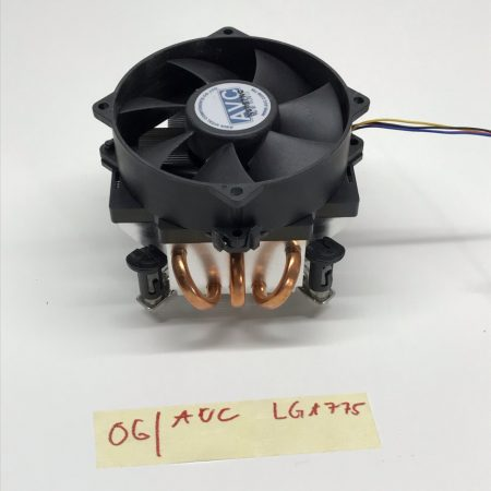 AVC LGA775 3 hőcsöves RÉZ-ALU használt processzor CPU Hűtő