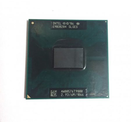 Intel Core 2 Duo T9800 laptop processzor CPU 2,93Ghz 1066Mhz FSB 6Mb L2 Socket P SLGES