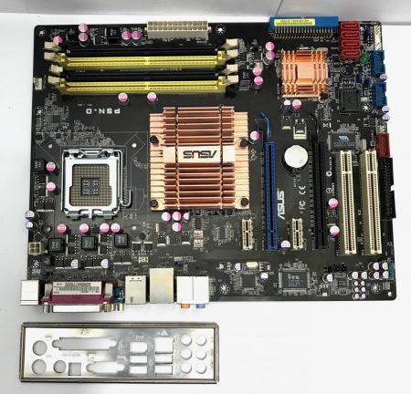Asus P5N-D LGA775 használt alaplap DDR2 NVIDIA nForce 750i SLI PCI-e