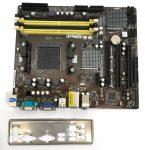 Asrock 960GC-GS FX AMD 760G AM3+ AM3 AM2 AM2+ használt alaplap DDR3 DDR2