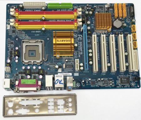 Gigabyte GA-P43-ES3G LGA775 használt alaplap DDR2 PCI-e 6db SATA