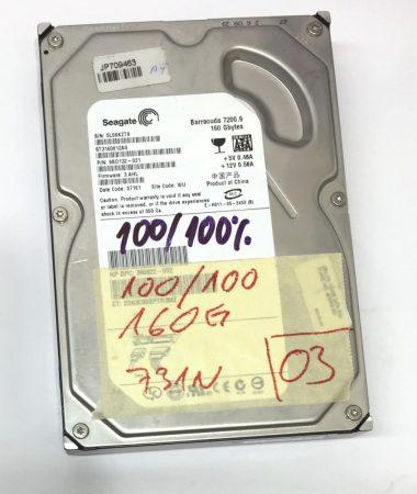 """Seagate 160Gb SATA HDD merevlemez 3,5"""" 7200rpm használt 100/100"""