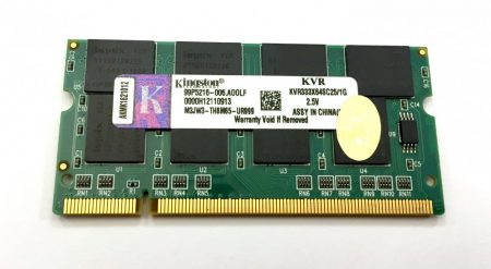 Kingston 1Gb DDR 333Mhz Laptop notebook memória RAM SO-DIMM PC2700 KVR333X64SC25/1G
