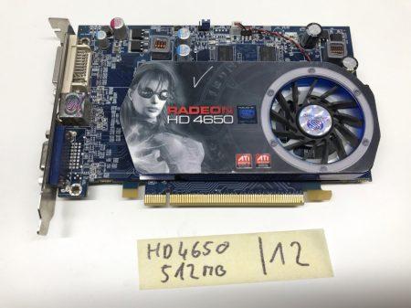 Sapphire AMD Radeon HD4650 512Mb GDDR2 128bit használt videokártya