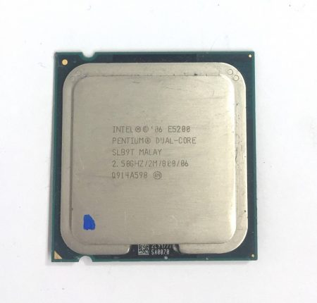 Intel Pentium Dual-Core E5200 2,50Ghz használt processzor CPU LGA775 800Mhz FSB 2Mb Cache SLAY7 SLB9T