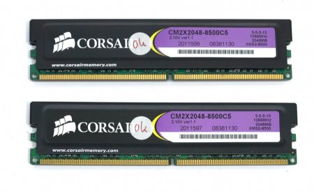 Cprsair XMS2 4GB 1066Mhz CL5 KIT PC2-8500 CMS2X2048-8500C5  2x2Gb