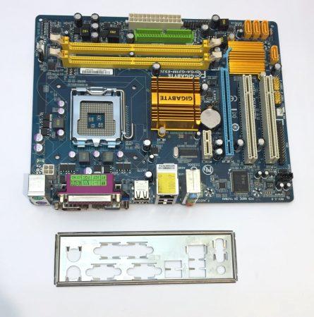 Gigabyte GA-G31M-S2L Intel LGA775 használt alaplap G31 DDR2