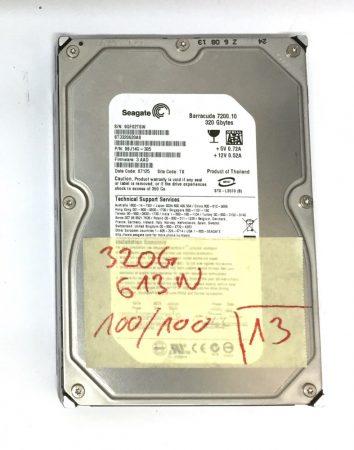 """Seagate 320Gb SATA HDD merevlemez 3,5"""" 7200rpm használt 100/100"""