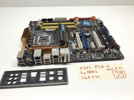 Asus P5Q-E LGA775 használt alaplap 4xDDR2 p45 PCI-e