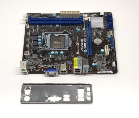Asrock H61M-VG4 LGA1155 használt alaplap Intel H61 2. 3. gen. DDR3 iGPU
