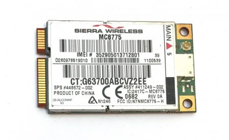 Sierra Wireless PCI-E MC8775V 3G WWAN HSPA GSM GPRS EDGE 3G WWAN kártya