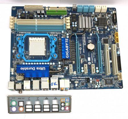 Gigabyte GA-MA790FXT-UD5P AMD 790FX AM3 használt alaplap DDR3 10db SATA