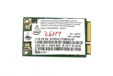 Intel WM3945ABG MOW2 laptop Wi-Fi kártya mini PCI-e Wifi WLAN adapter 802.11a/b/g 42T0855