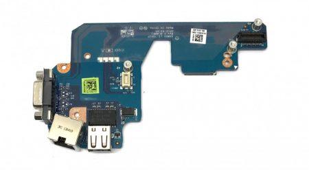 Dell Latitude E5430 USB LAN VGA D-SUB csatlakozó panel