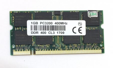 1Gb DDR 400Mhz Laptop notebook memória RAM SO-DIMM PC3200 DDR1 ÚJ