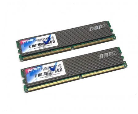 Patriot Extreme Performance 2GB KIT 2x1Gb DDR2 800Mhz PC számítógép memória Ram PDC22G6400LLK PC2-6400