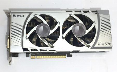 PalitGeForce GTX 570 1280Mb GDDR5 320bit PCIe használt videokártya