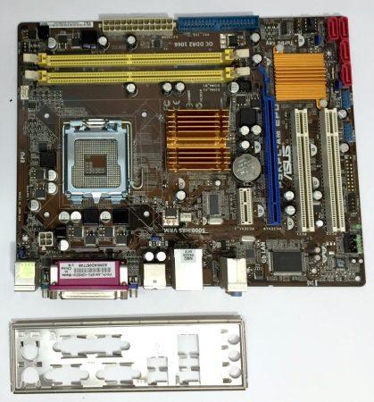 Asus P5kPL-AM EPU LGA775 használt alaplap DDR2 PCI-e integrált VGA