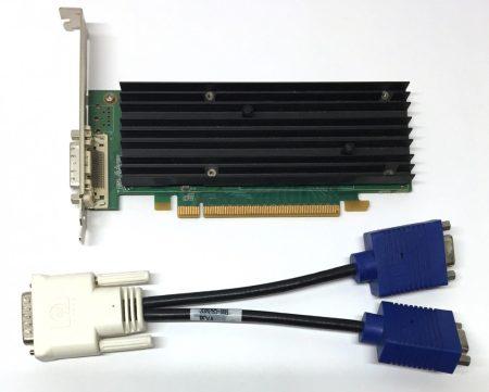 nVIDIA Quadro NVS 290 256MB 64bit használt videokártya DMS-59 + kábel