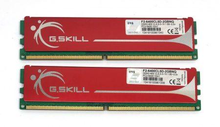 G.Skill 2GB KIT DDR2 használt memória RAM 800Mhz PC2-6400 F2-6400CL5D-2GBNQ  2x1Gb