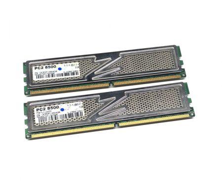OCZ Platinum Dual Channel Kit 4GB KIT 2x2Gb DDR2 1066Mhz használt PC számítógép memória Ram OCZ2P10664GK PC2-8500