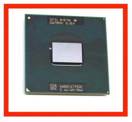 Intel Core 2 Duo T9550 használt laptop processzor CPU 2,66Ghz 1066Mhz FSB 6Mb L2 Socket P SLGE4