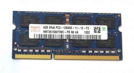 4Gb DDR3 1600Mhz PC3-12800 használt Laptop ram memória SO-DIMM