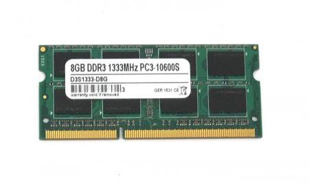 8Gb DDR3 1333Mhz PC3-10600 használt Laptop ram memória SO-DIMM