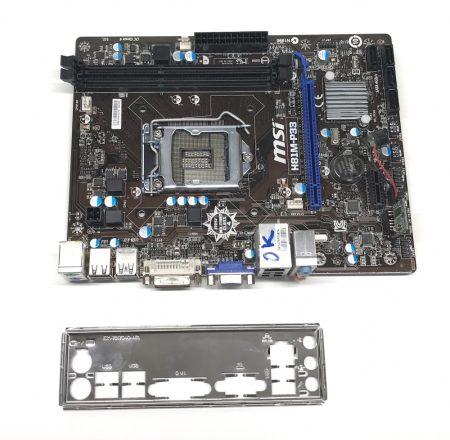 MSI H81M-P33 LGA1150 használt alaplap Intel H81 4. gen. DDR3 USB 3.0 integrált VGA