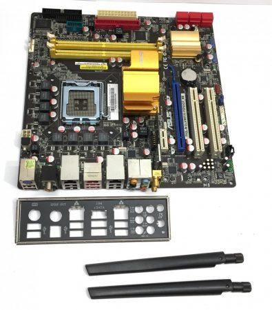 Asus P5QL-M DLX/WIFI LGA775 használt alaplap DDR2 P43 6db SATA WIFI