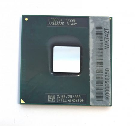 Intel Core 2 Duo T7250 laptop processzor CPU 2,00Ghz 800Mhz FSB 2Mb L2 Socket P SLA49