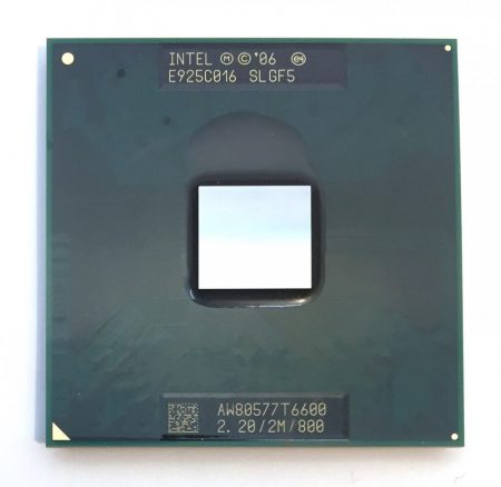 Intel Core 2 Duo T6600 laptop processzor CPU 2,20Ghz 800Mhz FSB 2Mb L2 Socket P SLGF5