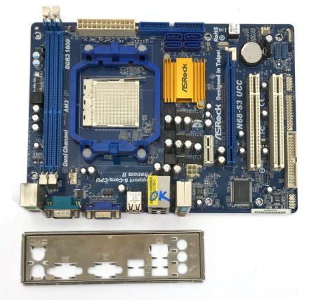 Asrock N68-S3 UCC NVIDIA nforce 630a AM3 használt alaplap DDR3