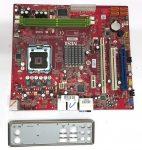 MSI P6NGM-FD LGA775 használt alaplap DDR2 4db SATA
