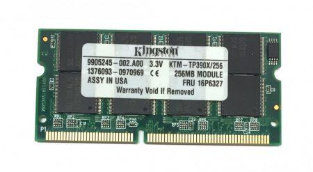 Kingston 256Mb SD ram 100Mhz Laptop notebook memória RAM SO-DIMM PC100 KTM-TP390X/256