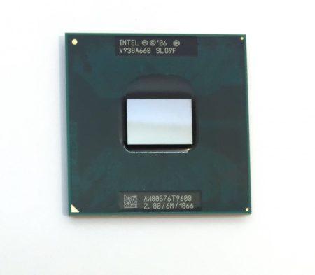 Intel Core 2 Duo T9600 laptop processzor CPU 2.80Ghz 1066Mhz FSB 6Mb L2 Socket P SLG9F