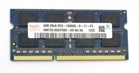 4Gb DDR3 1333Mhz PC3-10600 használt Laptop ram memória SO-DIMM