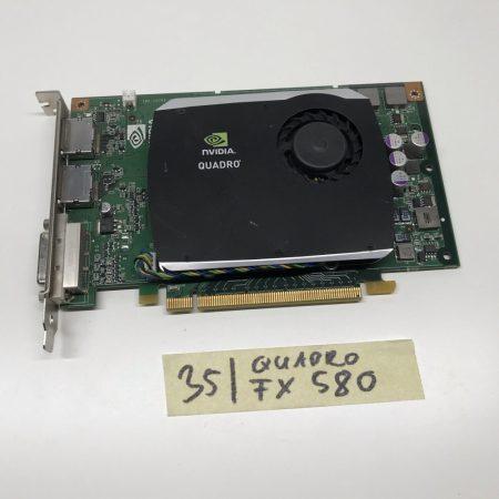 nVIDIA Quadro FX 580 512Mb GDDR3 128bit használt videokártya
