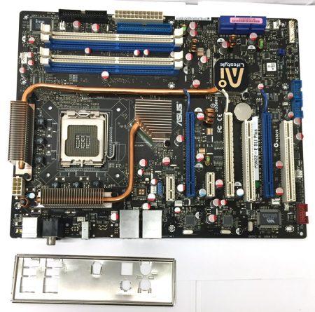 Asus P5N32-E SLI Plus LGA775 használt alaplap DDR2 5db PCI-e 6db SATA