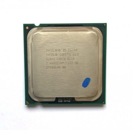 Intel Core 2 Duo E6750 2,66Ghz használt processzor CPU LGA775 1333Mhz FSB 4Mb L2 SLA9V