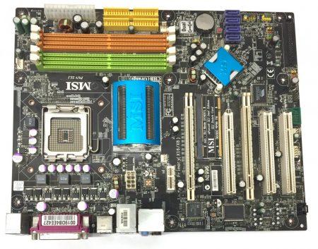 MSI P6N SLI LGA775 használt alaplap DDR2 4db SATA