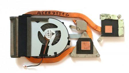 Acer Aspire 7551G komplett hűtés processzor CPU hűtő 7551G-P544G32Mnkk MS2310
