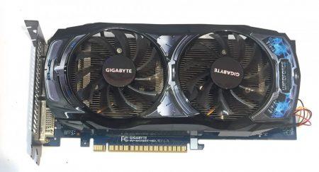 GigabyteGeForce GTS 450 OC 1GB 128bit GDDR5 PCIe használt videokártya