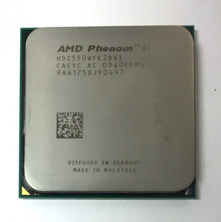 AMD Phenom II X2 550 Black Edition (rev. C2) 3.1GHz 2 magos AM3 Processzor CPU HDZ550WFK2DGI