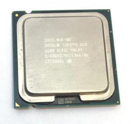 Intel Core 2 Duo E6600 2,40Ghz kétmagos Processzor CPU LGA775 1066Mhz FSB 4Mb L2 SL9ZL