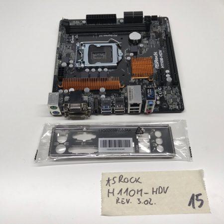 Asrock H110M-HDV LGA1151 használt alaplap H110 6-7. generáció