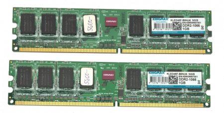 Kingmax 2Gb 2x1Gb DDR2 1066Mhz használt PC memória Ram PC2-8500 KLED48F-B8KU6
