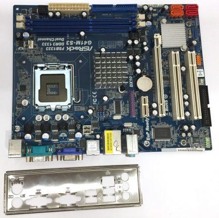 ASRock G41M-S3 LGA775 használt alaplap DDR3 G41 Integrált VGA