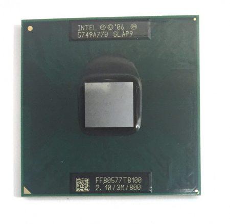 Intel Core 2 Duo T8100 laptop processzor CPU 2.10Ghz 800Mhz FSB 3Mb L2 Socket P SLAP9