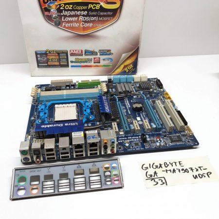 Gigabyte GA-MA790FXT-UD5P AM3 AMD 790FX használt alaplap 10x Sata 5x PCI-e DDR3